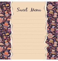 Sweet Menu vector image