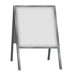 white blank sandwich board mockup realistic style vector image