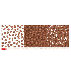 3 coffee beans seamless pattern vector image vector image