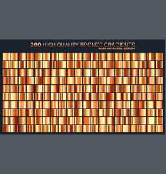 bronze gradientpatterntemplateset of colors for vector image vector image