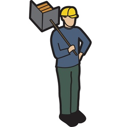 Builder vector image