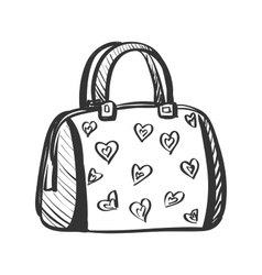 doodle purse vector image vector image