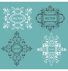 Set monogram design elements Baroque style vector image vector image