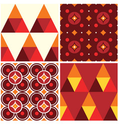60s and 70s style seamless pattern vector