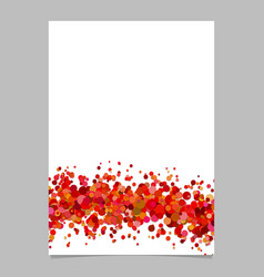 Abstract blank wave dispersed confetti circle vector