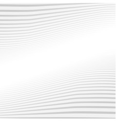 Abstract gray lines wave pattern on white vector