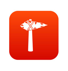 Ancient hammer icon digital red vector
