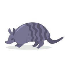 armadillo cartoon icon in flat design vector image