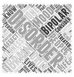 Bipolar disorder Word Cloud Concept vector