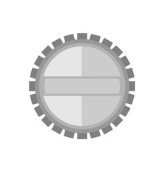 blank grey silver circular emblem badge graphic vector image