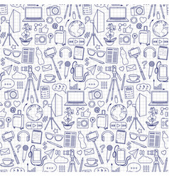 blog object seamless pattern vector image