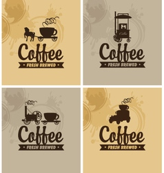 Cafe on wheels vector