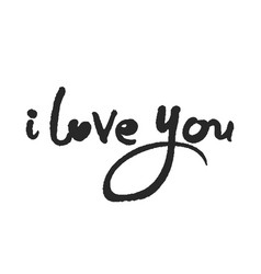 calligraphy lettering i love you vector image