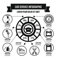 Car service infographic concept simple style vector