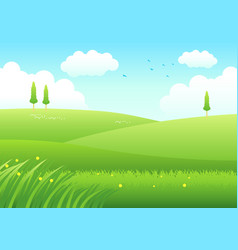 Cartoon meadows vector