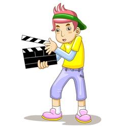 Cartoon Movie Slate vector image