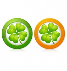 clover in round vector image