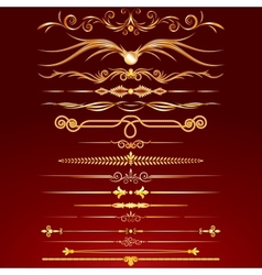 collection golden rule lines vector image