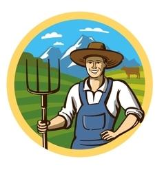 color farmer vector image