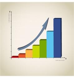 colorful diagram graph vector image