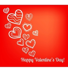 Colorful Valentines Day card vector