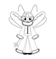 coloring with fairy vector image vector image