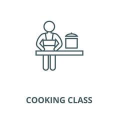 cooking class line icon cooking class vector image