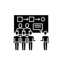 Customer segmentation black icon sign on vector