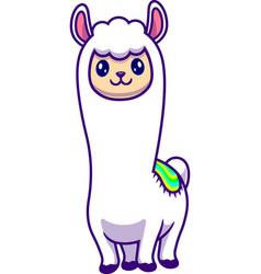 Cute alpaca vector