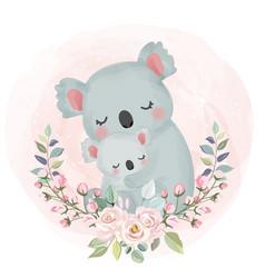 Cute koala motherhood vector