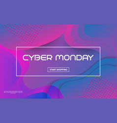 cyber monday sale techno styleabstract vector image