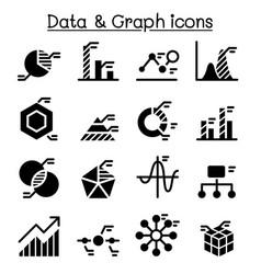 Data diagram graph chart icon set vector