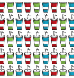 Delicious refreshing soda beverage background vector
