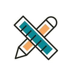 design web development icon line and fill vector image