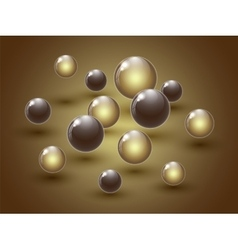 Different colour glass balls on colorful vector image