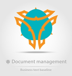 Document management business icon vector image