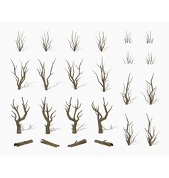 Dried dead trees vector