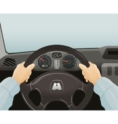 Driving of a car vector