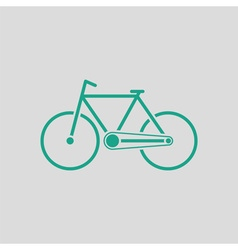 Ecological bike icon vector image