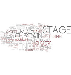 end-stage word cloud concept vector image