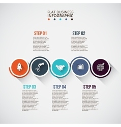 Flat circles with long shadows for infographic vector image