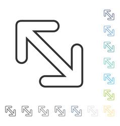 Flip arrows diagonal icon vector