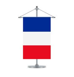 french flag on the cross metallic pole vector image