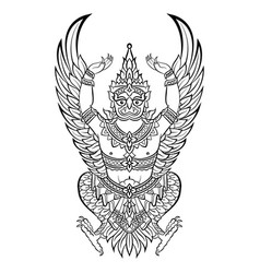 Garuda bird of vishnu vector