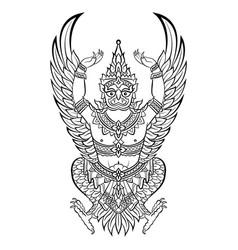 garuda bird of vishnu vector image