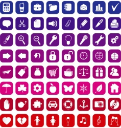 general icons vector image vector image