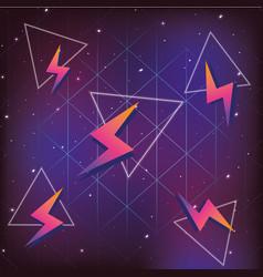 geometrical futuristic backgrouns vector image
