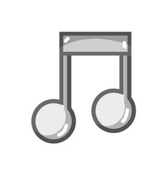 Grayscale musical sign note to rhythm tone vector