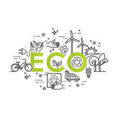 Green energy ecology lifestyle recycle vector
