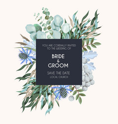 Greeting card with high detailed greenery vector